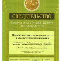 """Свидетельство """"Лучшее -детям"""" 2017 год"""